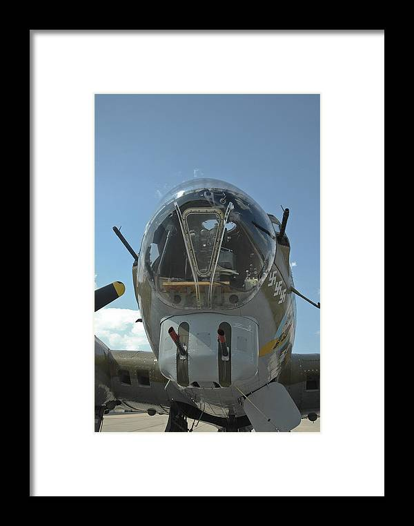 B-17 Framed Print featuring the photograph B-17 Nose by Steve Cost