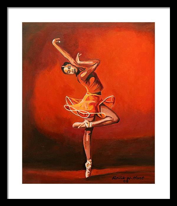Ballet Dancer Framed Print featuring the painting Ballet Lady by Patrick Hunt