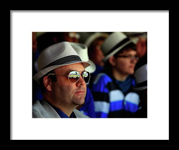 Fedora Framed Print featuring the photograph Baltimore Orioles V Kansas City Royals by Jamie Squire