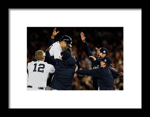 Ninth Inning Framed Print featuring the photograph Baltimore Orioles V New York Yankees 1 by Elsa