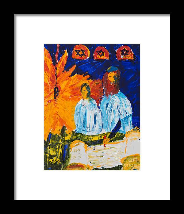 Jewish Art Framed Print featuring the painting Bar Mitzvah by Walt Brodis