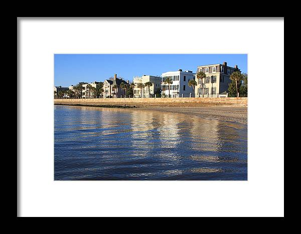 Battery Row Framed Print featuring the photograph Battery Row-charleston by Mountains to the Sea Photo