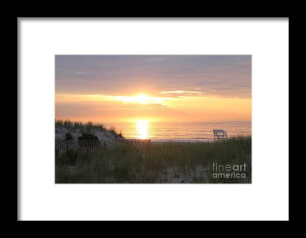 Beach Framed Print featuring the photograph Sunrise by Suzanne Kelly