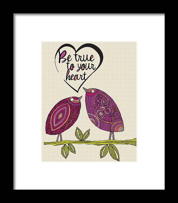 Illustration Framed Print featuring the photograph Be True To Your Heart by Valentina Ramos