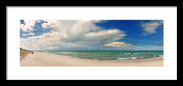 Ostsee Framed Print featuring the pyrography Beach Prerow by Steffen Gierok
