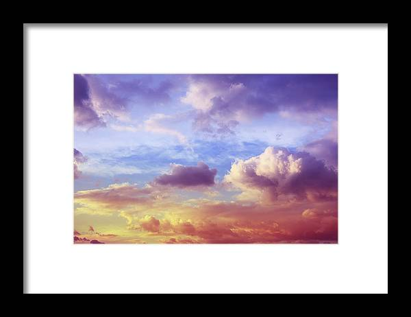 Scenics Framed Print featuring the photograph Beautiful Sunset Cloudscape by Blackred