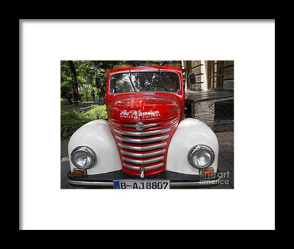 Krakow Framed Print featuring the photograph Beer Truck by Brenda Kean