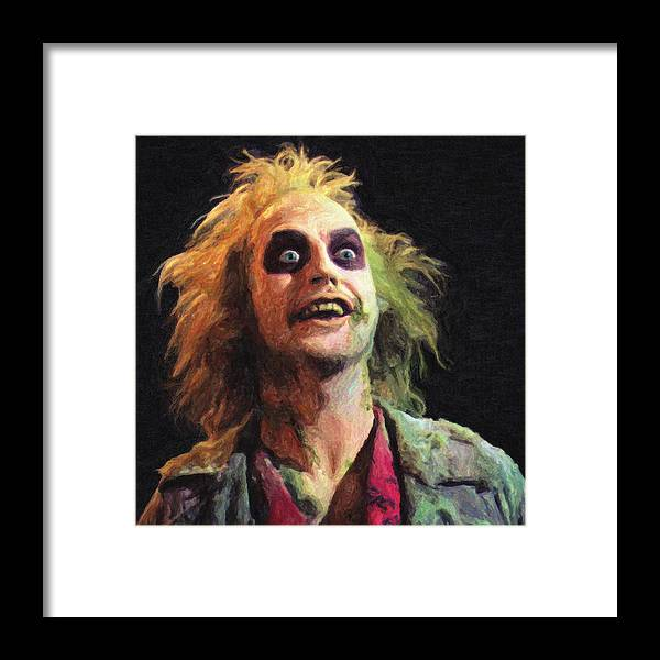 Beetlejuice Framed Print featuring the painting Beetlejuice by Zapista Zapista