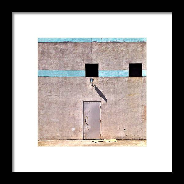 Wall Framed Print featuring the photograph Beige Wall by Julie Gebhardt