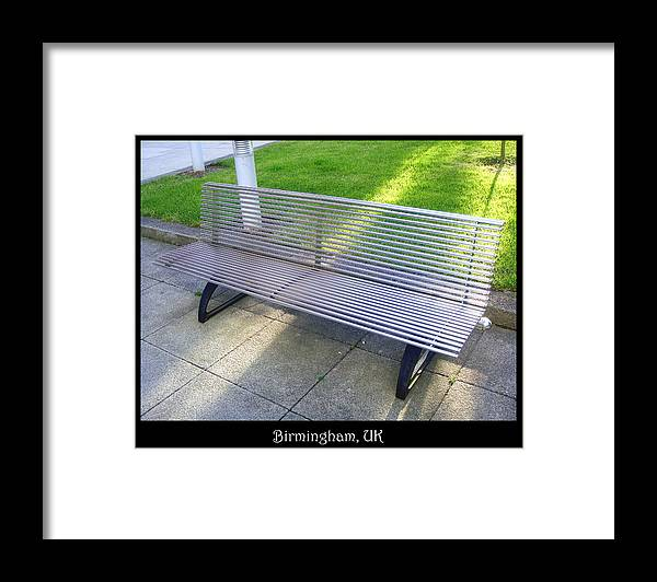 Bench Framed Print featuring the photograph Bench 08 by Roberto Alamino