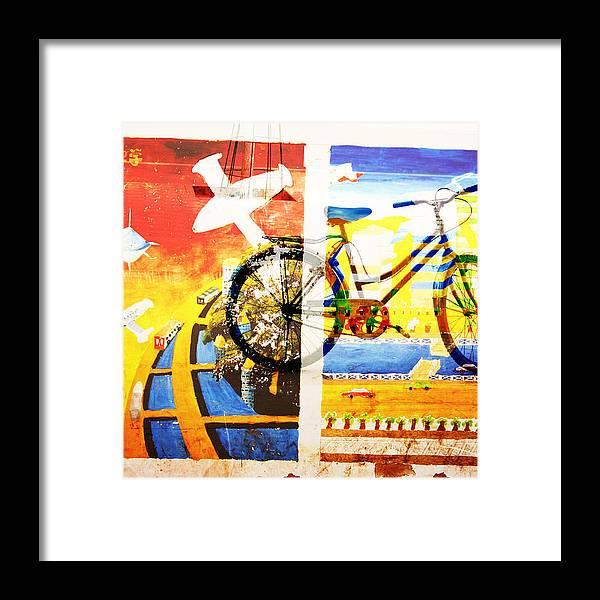 Summer Framed Print featuring the photograph Biking In Bejing by Jean Schweitzer