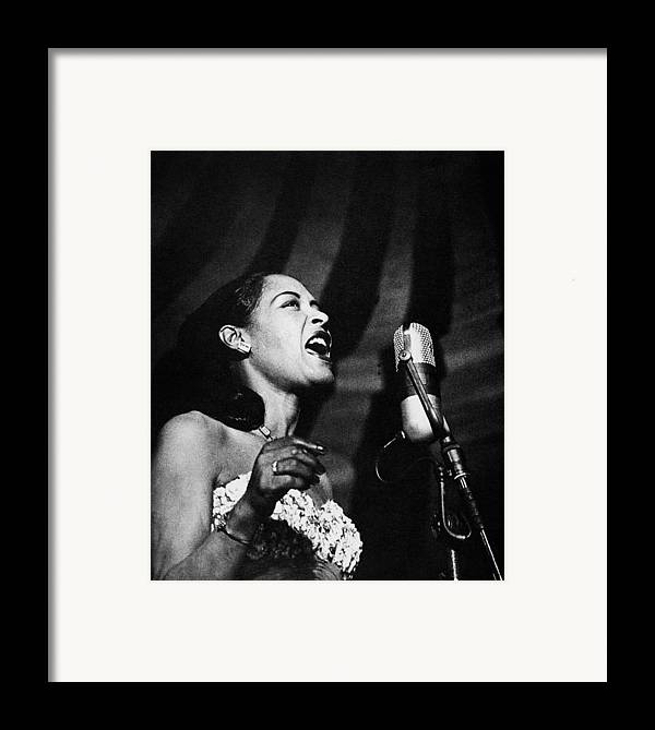 20th Century Framed Print featuring the photograph Billie Holiday (1915-1959) by Granger