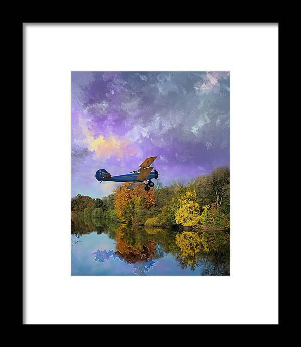 Photo Framed Print featuring the painting Biplane Series by Sid Katragadda