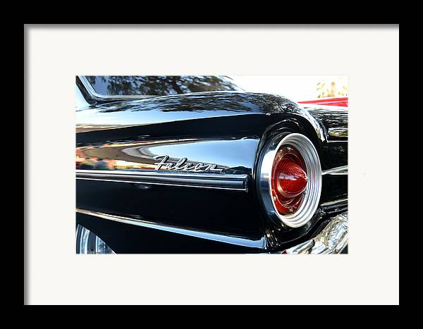 1963 Ford Falcon Framed Print featuring the photograph Black Falcon by David Lee Thompson