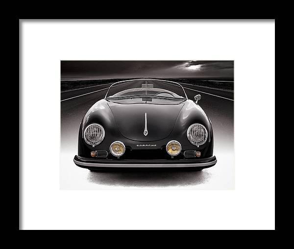 Porsche Framed Print featuring the photograph Black Porsche Speedster by Douglas Pittman