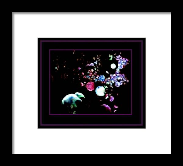 Space Framed Print featuring the digital art Blackberry Space by Tracie Howard