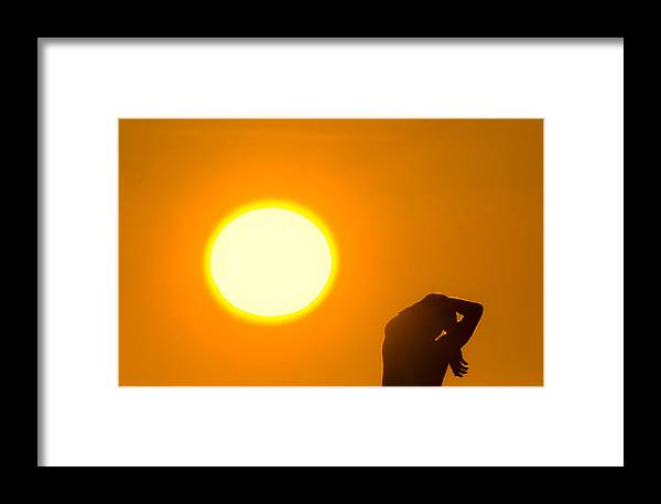 Man Framed Print featuring the photograph Blinded By The Light by Scott Lenhart