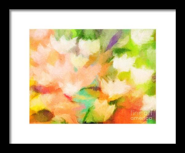 Flowers Framed Print featuring the painting Blossom by Lutz Baar