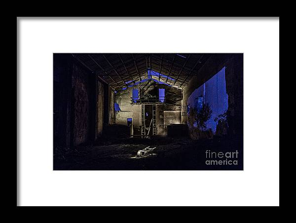 Framed Print featuring the photograph Blue by Eugenio Moya