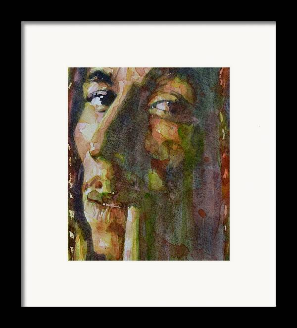 Bob Marley Framed Print featuring the painting Bob Marley by Paul Lovering