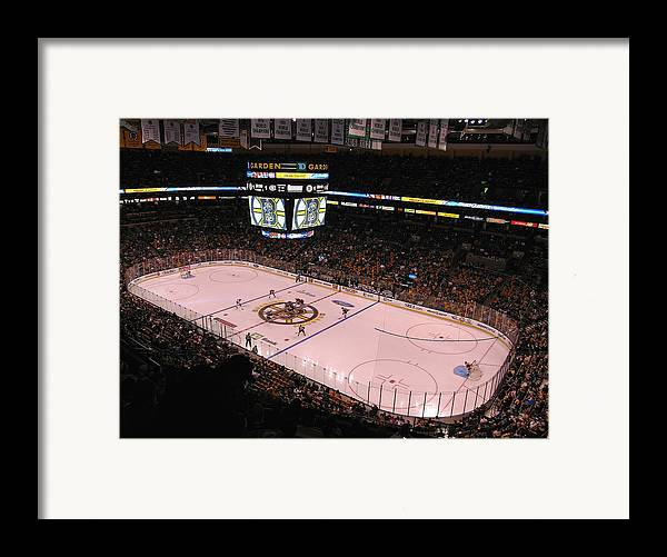 Boston Framed Print featuring the photograph Boston Bruins by Juergen Roth