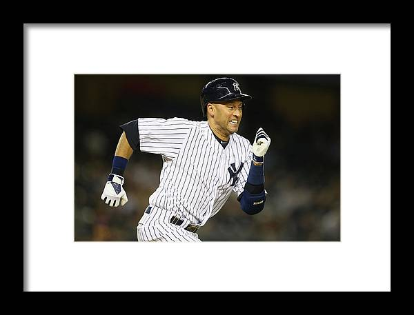 People Framed Print featuring the photograph Boston Red Sox V New York Yankees 1 by Al Bello
