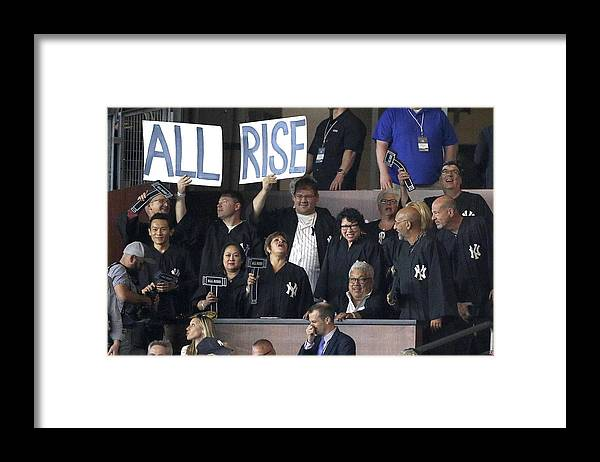 People Framed Print featuring the photograph Boston Red Sox vs New York Yankees by Paul Bereswill