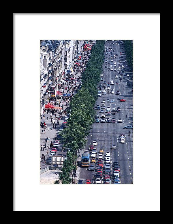 Champs Elysee Framed Print featuring the photograph Boulevard Of Dreams by Carl Purcell