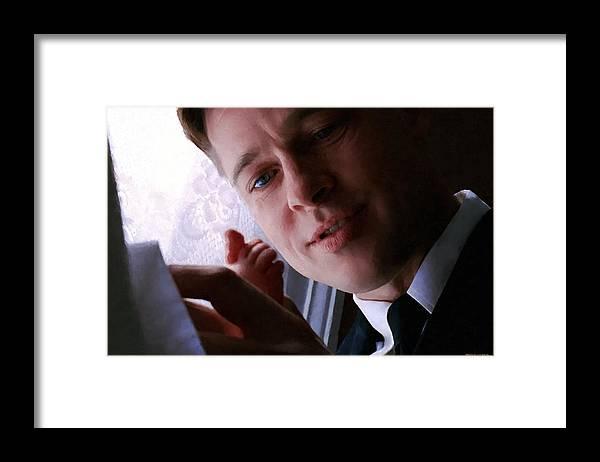 Brad Pitt Framed Print featuring the digital art Brad Pitt in the film The Tree of Life by Gabriel T Toro