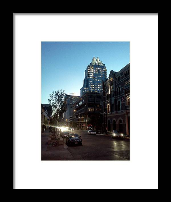 Brazos Framed Print featuring the photograph Brazos Street Austin Texas by James Granberry