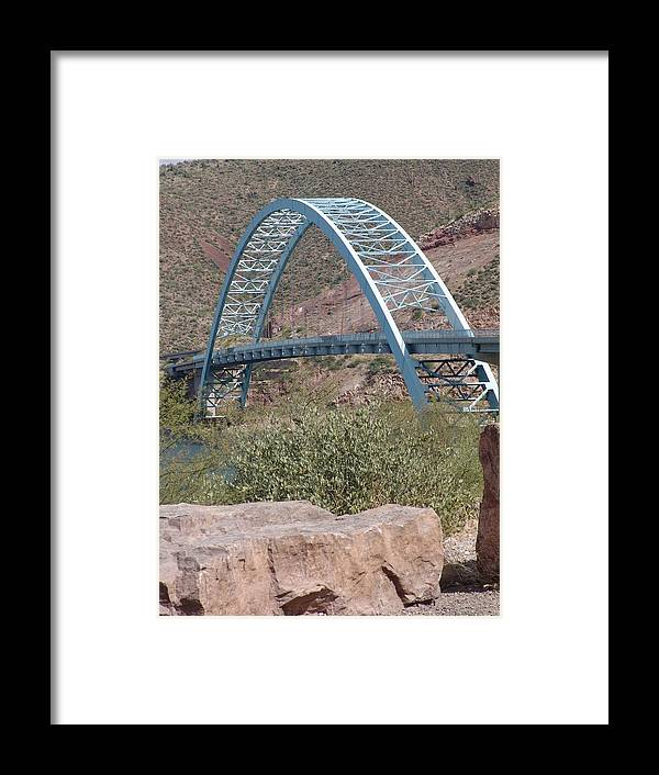 Arizona Framed Print featuring the photograph Bridge by Jeri lyn Chevalier