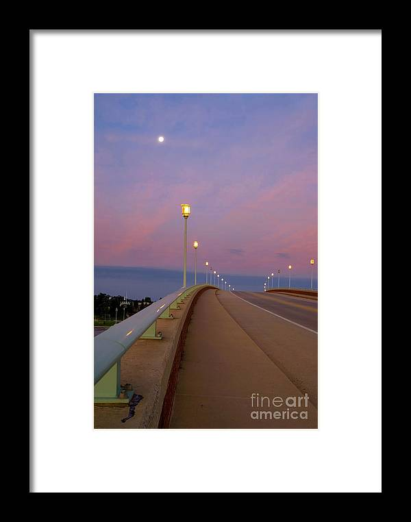 Annapolis Framed Print featuring the photograph Bridge To The Moon by Benjamin Reed
