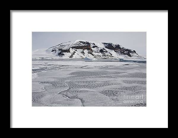 Pack Ice Framed Print featuring the photograph Brown Bluff, Antarctica by John Shaw