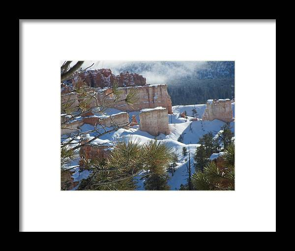 Awesome Framed Print featuring the photograph Bryce by Bhanu Mohan