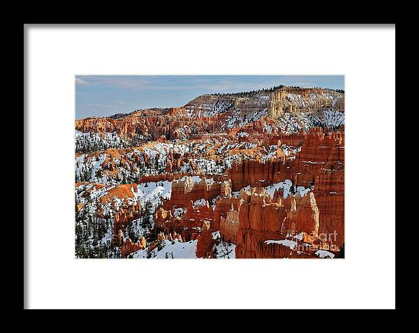Photo Framed Print featuring the photograph Bryce Canyon by Bernard MICHEL
