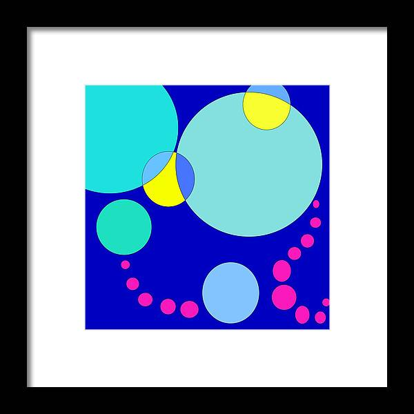 Bubbles Framed Print featuring the digital art Bubble Two by Jeff Gater