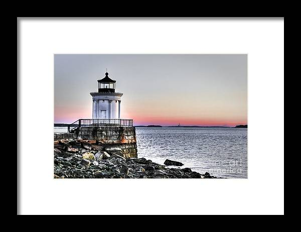 Lighthouse Framed Print featuring the photograph Bug Light by Brenda Giasson