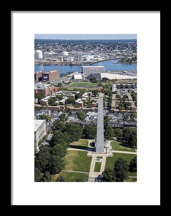 America Framed Print featuring the photograph Bunker Hill Monument, Boston by Dave Cleaveland