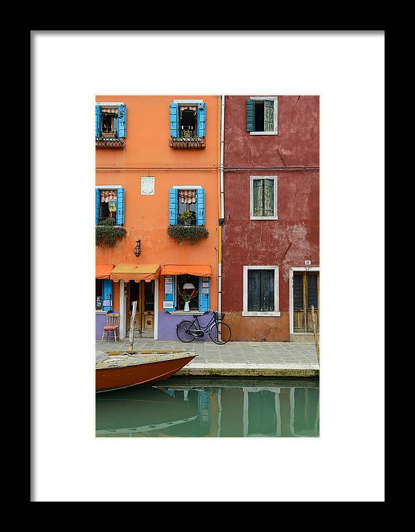 Ancient Framed Print featuring the photograph Burano Italy by Brandon Bourdages