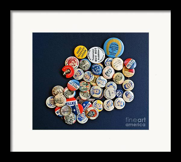 Buttons Framed Print featuring the photograph Buttons by Gwyn Newcombe