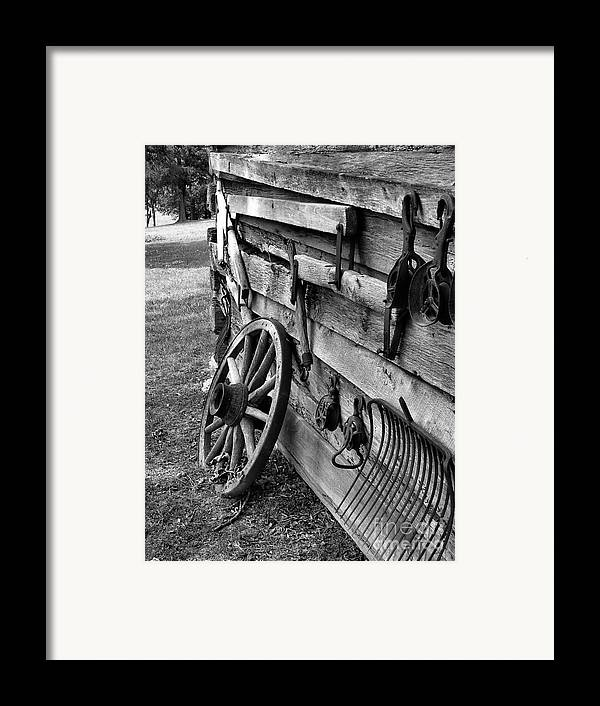 Framed Print featuring the photograph Cabin Wall by Julie Dant