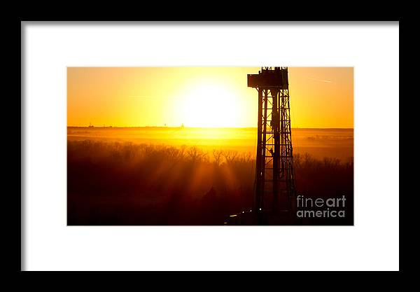 Oil Rig Framed Print featuring the photograph Cac001-176 by Cooper Ross