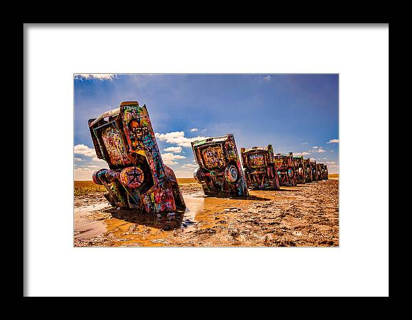 Cadillac Ranch Framed Print featuring the photograph Cadillac Ranch by Ken Cromer