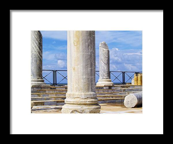 Caesarea Framed Print featuring the photograph Caesarea Maritima by Karol Kozlowski