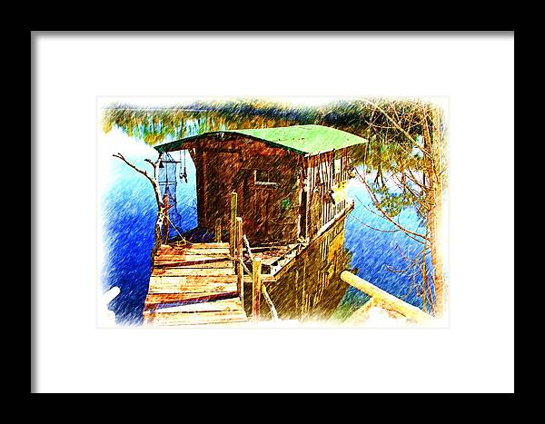 Cajun House Boat Framed Print featuring the photograph Cajun House Boat by Ronald Olivier