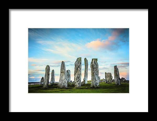 Prehistoric Era Framed Print featuring the photograph Callanish Standing Stones, Isle Of Lewis by Theasis