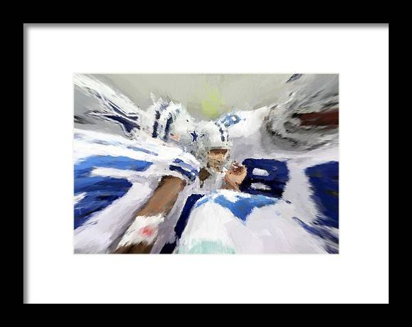 Dallas Cowboys Framed Print featuring the digital art Calling The Play by Carrie OBrien Sibley