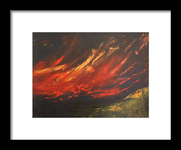 Clouds Framed Print featuring the painting Camberwell Skies by Jan Lowe