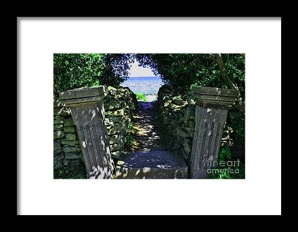 Cana Island Framed Print featuring the photograph Cana Island Walkway Wi by Tommy Anderson