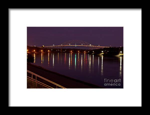 Water Framed Print featuring the photograph Canal At Night by Wayne Valler